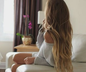 girl, ombre, and hair image