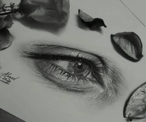 black and white, draw, and drawing image