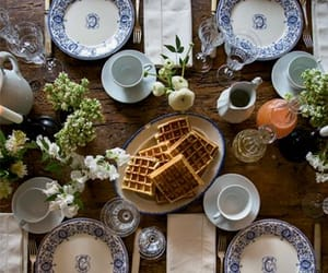 breakfast, waffles, and decor image