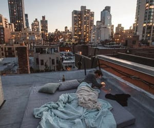 city, cozy, and rooftop image