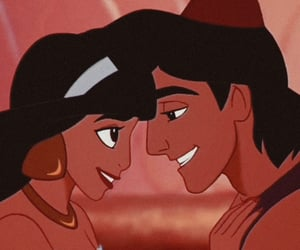 aladdin, disney, and couple image