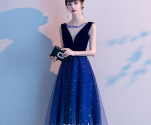 girl, formal dresses, and tulle dress image