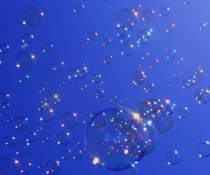aesthetic, blue, and bubbles image
