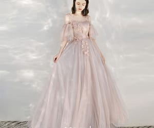 girl, formal dresses, and long dress image