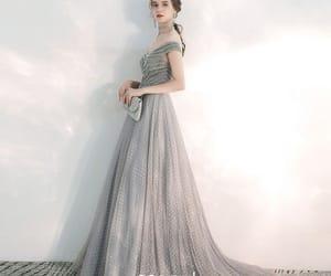 beading, long dress, and girl image
