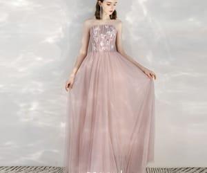 girl, pink dress, and formal dresses image