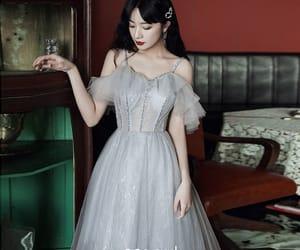 girl, formal dresses, and short dress image