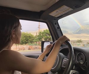 aesthetic, beach, and driving image