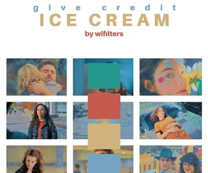 blue, ice cream, and fandom image