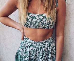 beach, floral, and outfit image