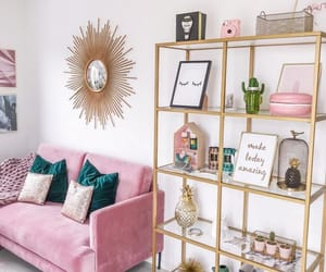 pink, gold, and home image