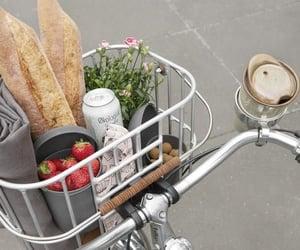 aesthetic, bike, and food image
