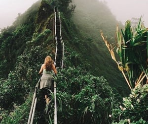 green, travel, and women image