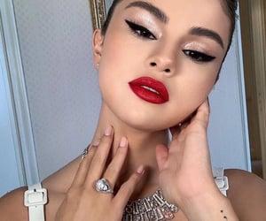 beautiful, lipstick, and selena gomez image