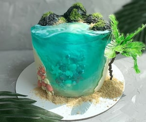 blue, cakes, and sirena image