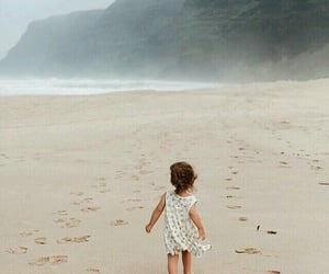 baby, beach, and kids image