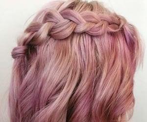 pink, braid, and makeup image