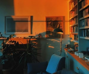 aesthetic, room, and orange image
