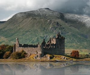 castle, mountain, and beautiful image