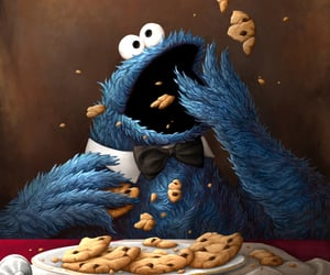art and cookie monster image