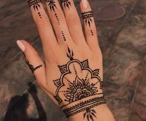 ❤, ✌, and henna tato image
