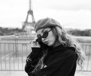 funny, paris, and white image