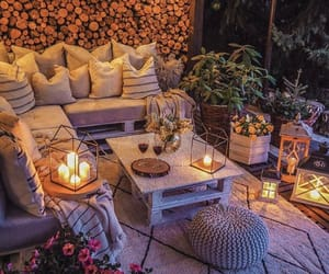 candles, chilling, and lanterns image