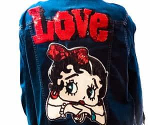 denim jacket, etsy, and jean jacket image