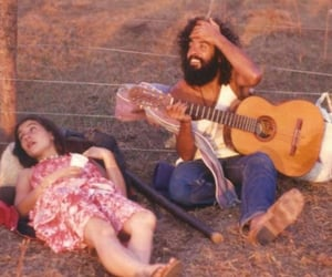 guitar and hippie image