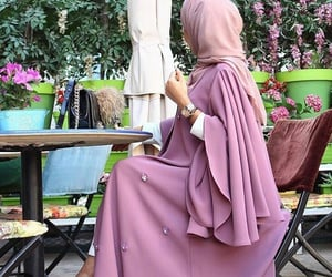 hijab, pink, and style image