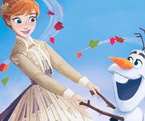 anna, disney, and snowman image
