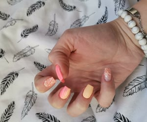 nails, ombre, and peach image