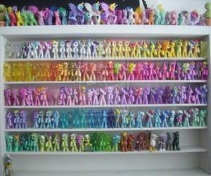 pony, rainbow, and toys image