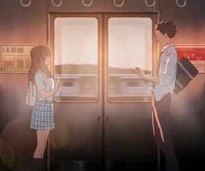 anime, 男の子, and 彼女 image
