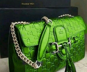 gucci, green, and handbags image