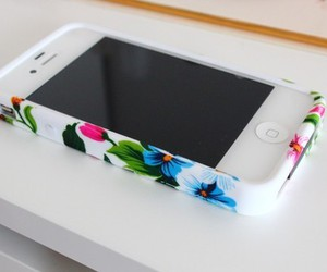 iphone, flowers, and white image