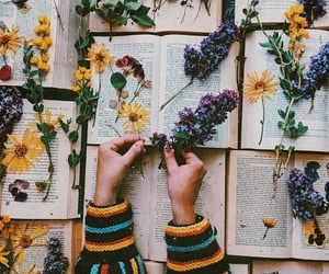 flowers and books image