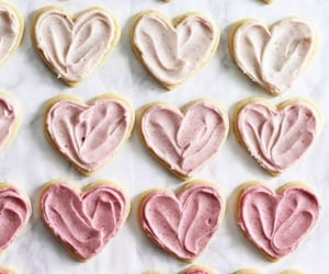 dessert, hearts, and sweet image