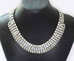bridal necklace, etsy, and rhinestone jewelry image