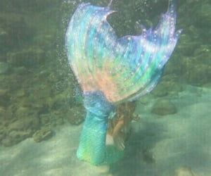 mermaid, aesthetic, and rainbow image