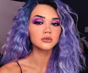 beauty, hair, and purple image