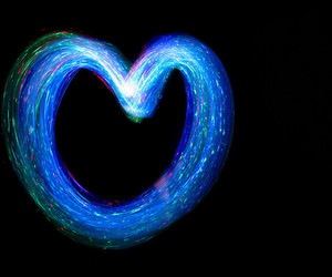 light, heart, and love image