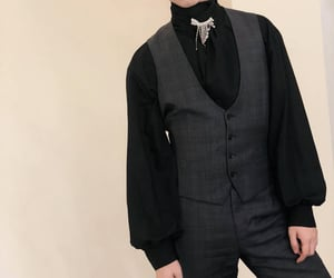 black, menswear, and chinese image