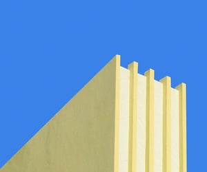 architecture, blue and yellow, and candycolors image