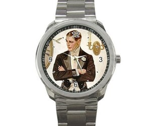 advertisement, antique, and watch image