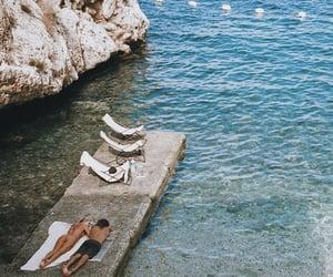 calm, Sunbath, and mediterranean sea image