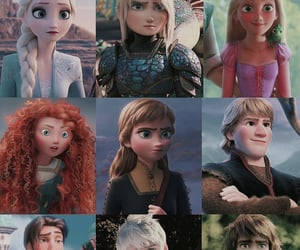 anna, brave, and disney image