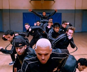 b-boy, chris brown, and dancers image
