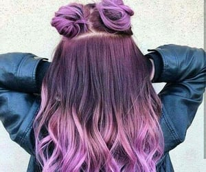 color hair, purple hair, and fantast color hair image