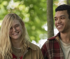 couple, Elle Fanning, and justice smith image